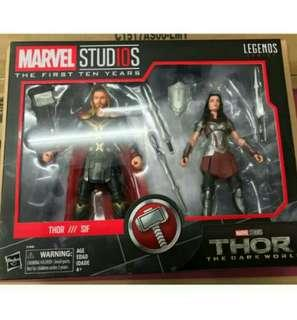 Marvel Legends 10 MCU anniversary Thor & Sif