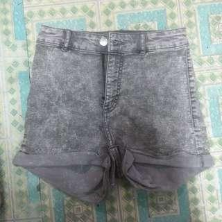 Denim shorts highwaisted