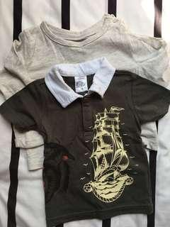 PRELOVED Mothercare & Ed Hardy Tshirts