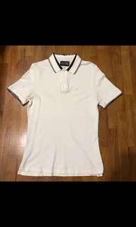 Size S Armani White Polo Shirt