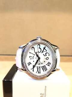 Pre Owned Audemars Piguet Millenary 77301ST White Dial Automatic Steel Casing Leather