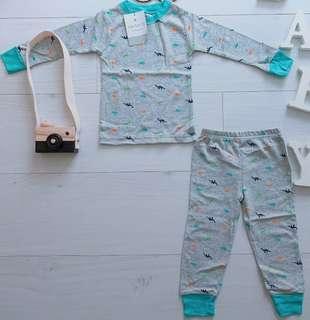 [cny promo-5% off] Boy Pyjamas - colouful dino
