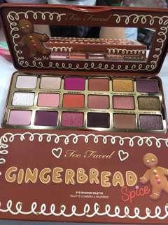 100% new too faced gingerbread spice eyeshadow palette
