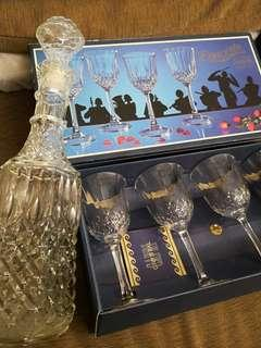4 x复古复古协奏曲卡普里岛意大利铅水晶,酒杯。清屋價可議。