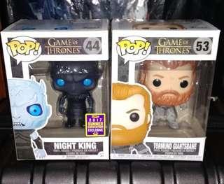 Night King Translucent & Tormund Giantsbane Snowy Game of Thrones Funko Pop Bundle