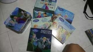 Disney Frozen bookset with puzzles