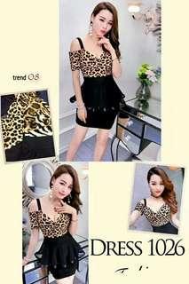 Dress 1026  Bahan korea strecth vit to M Brt 0,30