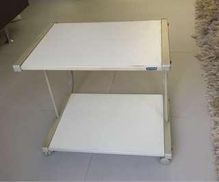 Sitoca solid steel/wooden rollable computer table