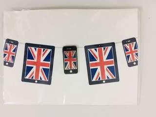 iphone UK flag button badge