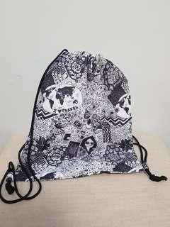 Printed String Bag