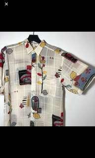 🚚 古著 復古 短袖襯衫 花襯衫 古著店購入