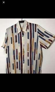 🚚 古著 復古 短袖襯衫 花襯衫