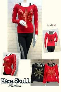 flag  Kaos Stretch Import All size fit to L brt 0,30
