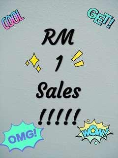 RM 1 sales !!!!