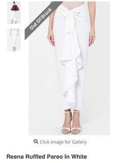 Reena Ruffle Pareo in White