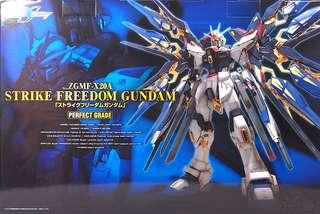 高達模型 PG Strike Freedom Perfect Grade Gundam 100% new未砌