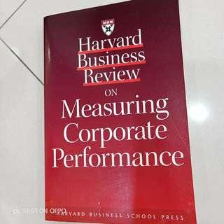 Harvard business review on measuring corp performance