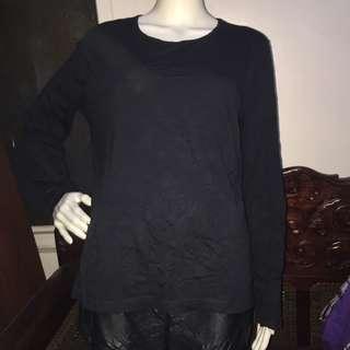 ANNE KLEIN black longsleeve blouse XL