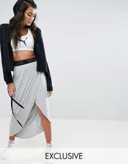 Puma Grey Maxi Wrap Skirt