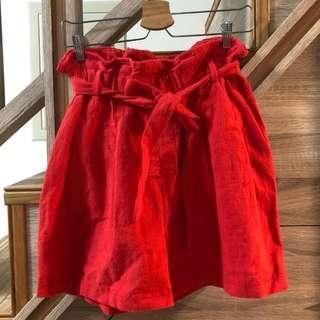 🇰🇷購於韓國 inside 紅色 短褲 made in korea