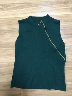 Army green Knit Top