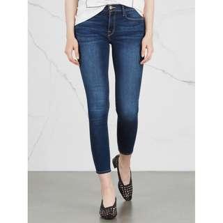 Frame Denim Le Skinny De Jeanne Crop dark blue Size 24