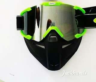 Kacamata Helm Cross Bogo Airsoft Trail Caferacer Racer Google Glasses INKO