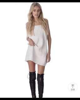 ⚡️SALE⚡️WHITE SPAGHETTI DRESS