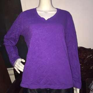 GREAT NORTHWEST lavender longsleeve blouse 1X