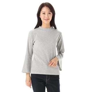 閉眼可入手! 超值 環保價 (有蝕無賺) 日本大牌 Honeys 灰色闊袖温柔針織衫 灰色