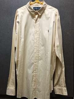 Ralph Lauren Yellow Plain Shirt Size XL (Mens)