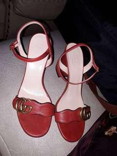 Authentic Gucci Marmont Block Heel