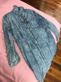 Denim Long Dress / Blouse / Top
