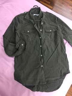 Padini Army Green Shirt top blouse