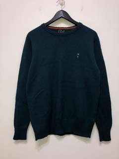 伏見古著 綠毛衣 針織上衣 vintage