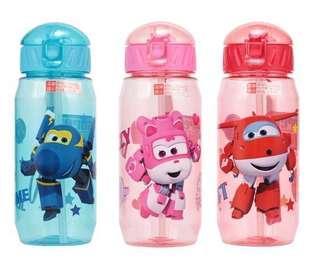 PO Brand New Super Wings Water Bottle Short Strap