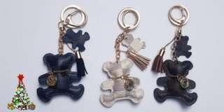 Leather Bear Tassel Key Chain