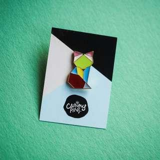 Geometric Fox Pin