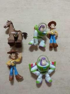 🚚 一起賣 迪士尼 玩具總動員 巴斯光年 胡迪 紅心 公仔 模型 玩具 組