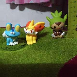 神奇寶貝 寶可夢  XY世代 三主角(哈力栗/火狐狸/呱呱泡蛙) 扭蛋玩具