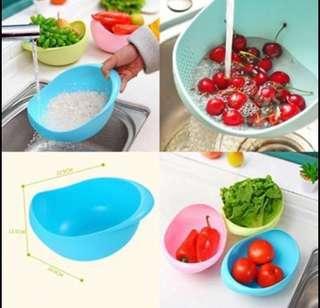 Bigger size wash rice fruits vegetables basin / sieve