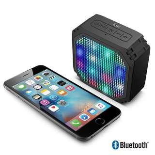iLuv Audio Mini Party - Rugged Dynamic Coluor LED Portable Bluetooth Speaker