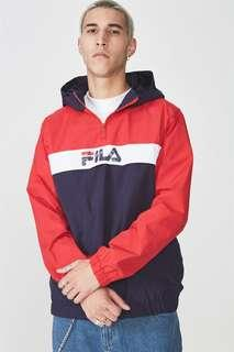 authentic bnwt fila half zip windbreaker