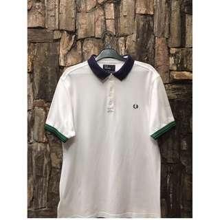 Fred Perry Colour Block Pique Shirt in White