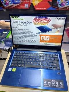 Kredit Acer Swift 3 AcerDay SF314-54G intel core i5 8250 Tanpa Cc