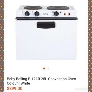 UK Baby Belling Convection Oven B-121R 25 Litre