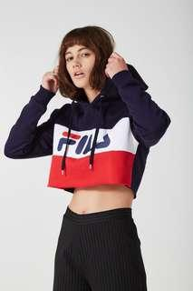 authentic bn fila cropped hoodie