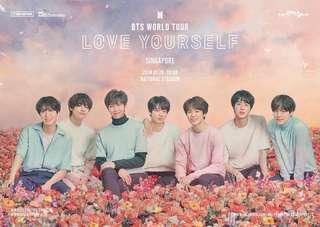 🚚 bts CAT 1&2 love yourself concert tickets