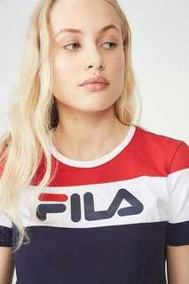 authentic brand new fila colorblock tee