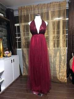 FOR RENT: Red Sparkly Gown